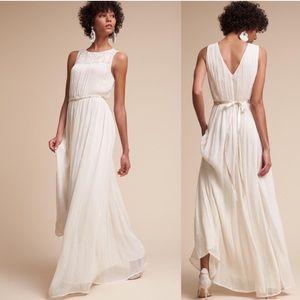 BHLDN Jayne Embroidered Chiffon Boho Wedding Dress